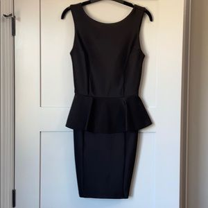 Black TOPSHOP peplum dress - size 4